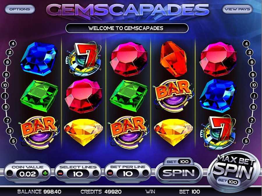 Gemscapades Main Slots