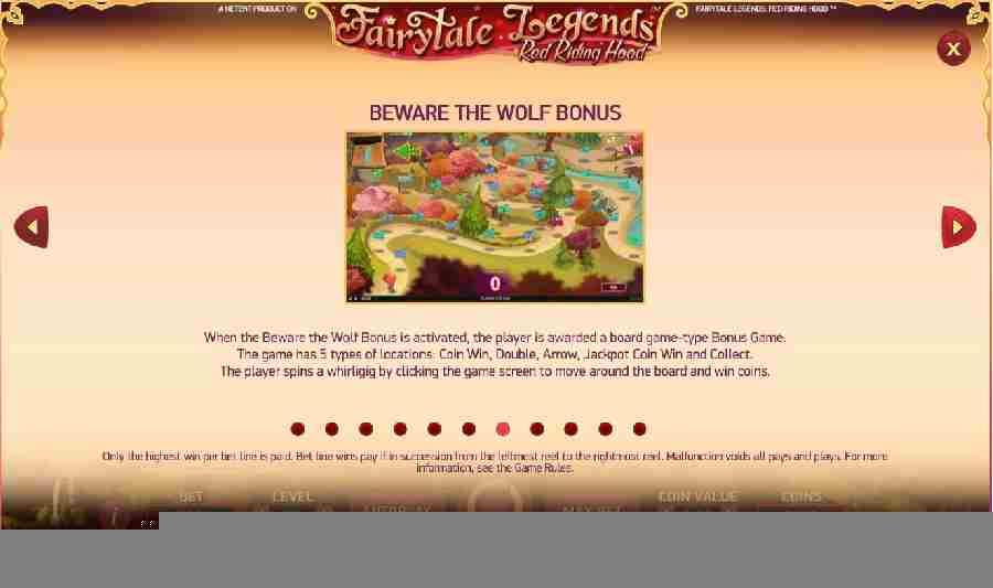 Red Riding Hood Beware the Wolf Bonus
