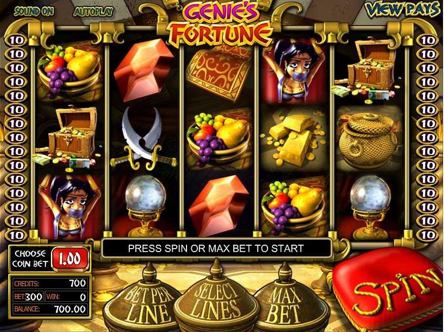 Genies fortune Main Slots