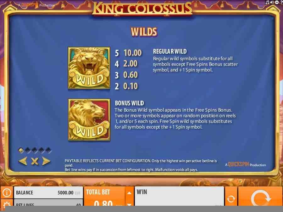 Bonus Wild Symbols Features