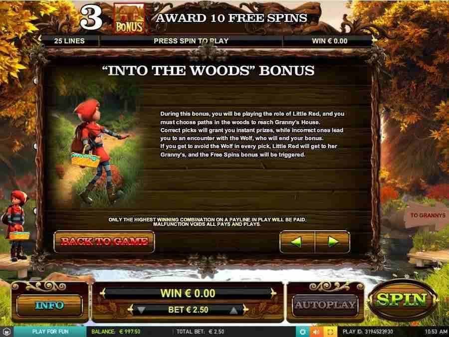 Into The Woods Bonus