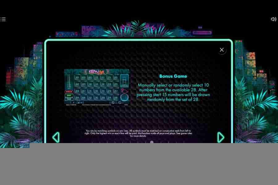 Neon Jungle Bonus Game