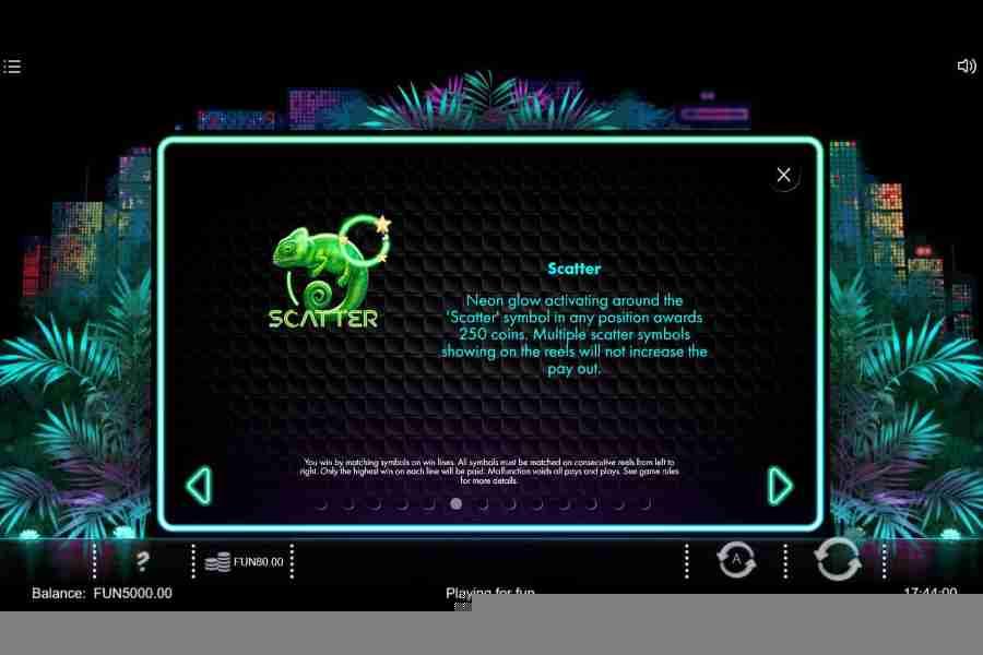 Neon Jungle Scatter Symbol