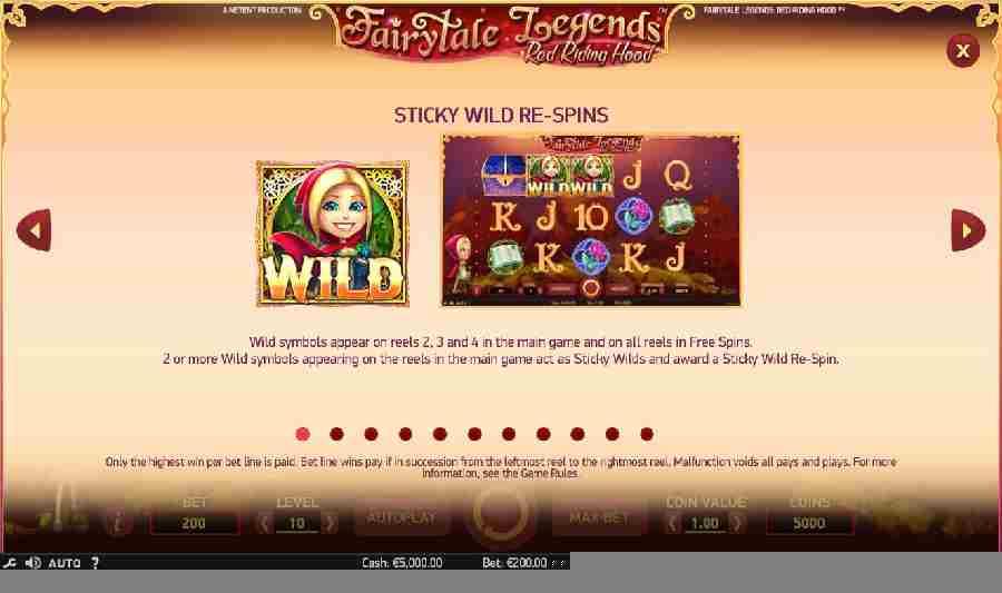 Sticky Wild Re-Spins Feature