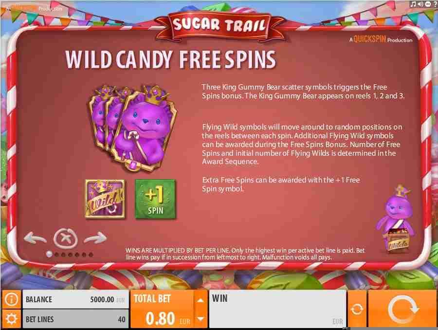Wild Candy Free Spins