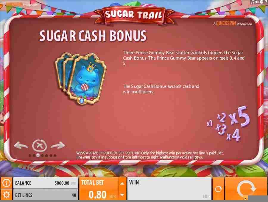 Sugar Cash Bonus