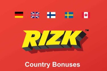 Rizk Casino Welcome Bonus Offer By Country