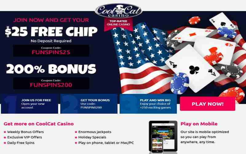 Cool Cat Free Chip Bonus Code