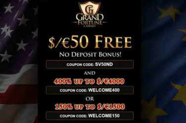 Grand Fortune casino No Deposit Bonus Codes