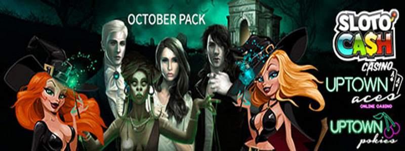 October Bonus Pack Codes for Slotocash, Uptown Aces/Pokies