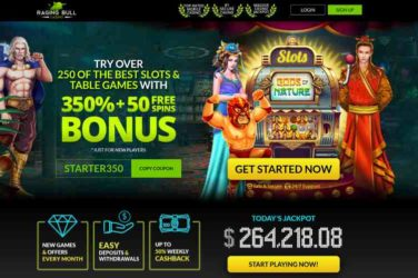 Raging Bull Casino STARTER350 bonus code