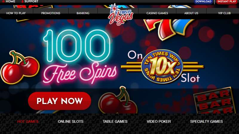 This Is Vegas Casino 100 Free Spins No Deposit Required