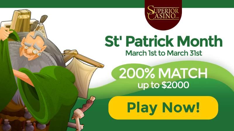Superior Casino St. Patrick's Day Bonus