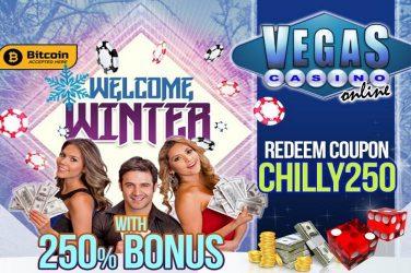 Vegas Casino Online Bonus Code CHILLY250