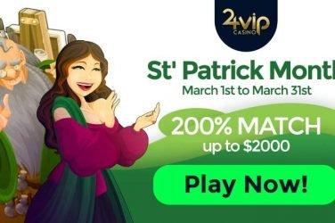 24VIP St. Patrick's Day Bonus