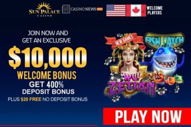 Sun Palace Welcome Bonus Code