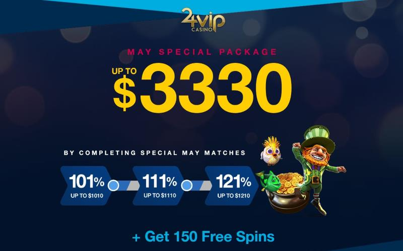 24VIP Casino May Spiecal Bonus