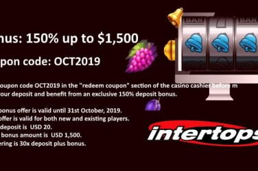 Intertops Red October Bonus Codes