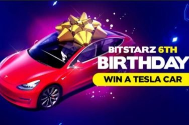 BitStarz Tesla Model 3 Birthday Giveaway