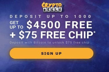 CryptoReels Bitcoin Welcome Bonus