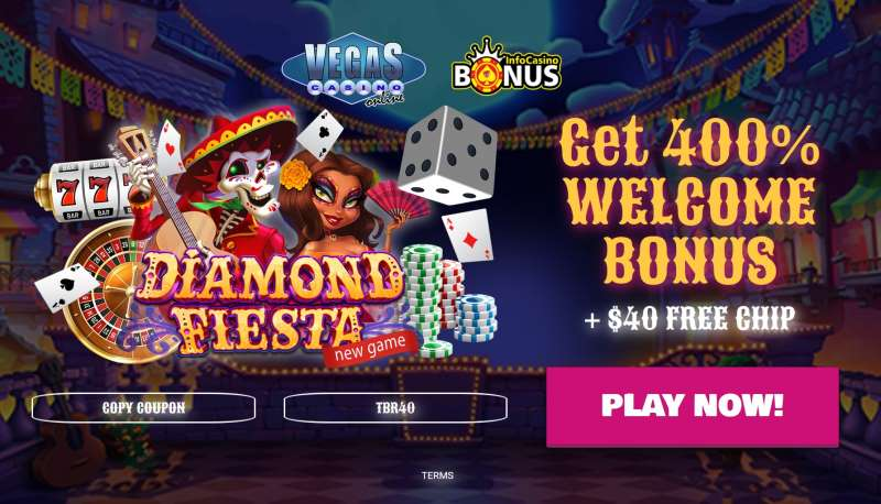 Online Casino 400% Welcome Bonus