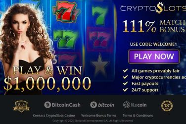 CryptoSlots Exclusive Match Bonus