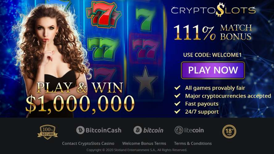 CryptoSlots Exclusive Match Bonus