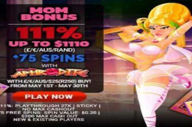 Mother's Day 75 Free Spins Promotion