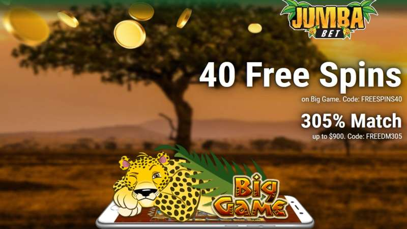 Jumba Bet Big Game Bonus Codes