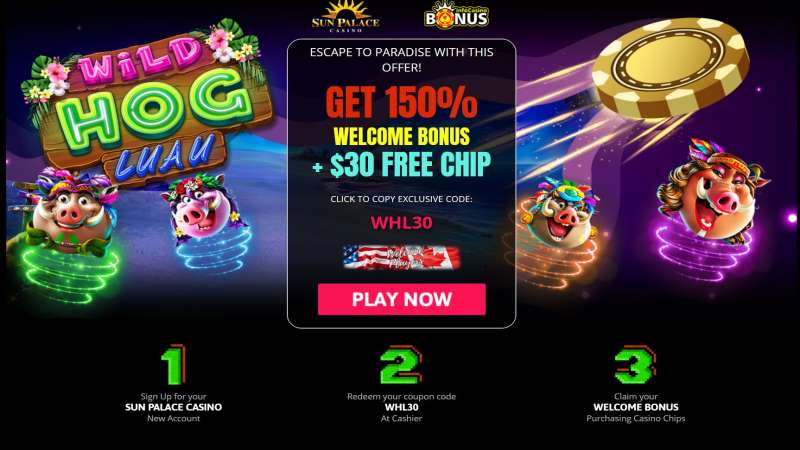 Sun Palace Exclusive Welcome Bonus Code
