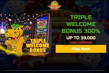 luckyhippo bonus hippo300
