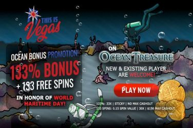Ocean Treasure September Free Spins Bonuses