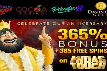 Anniversary Bonus + Midas Touch Free Spins