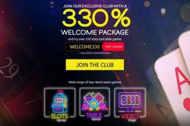 Club Player 330% Welcome Bonus: WELCOME330