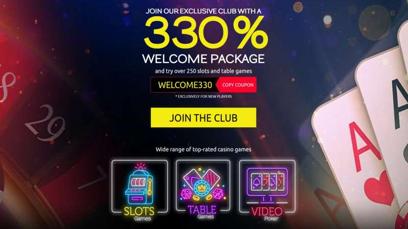 Club Player 330% Welcome Bonus: WELCOME330