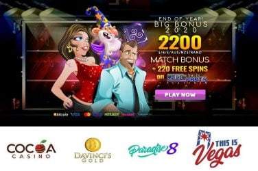 End Of Year Bonuses & Free Spins