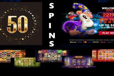 50 new years spins+221 match bonus