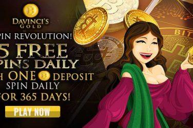 Davinci's Gold bitcoin spins