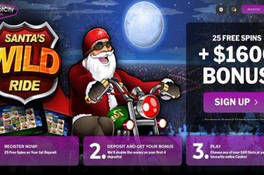 Jackpotcity Santas Wild Ride Bonus Spins