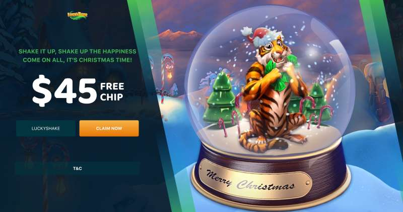 Lucky TigFree Chip Christmas Bonus