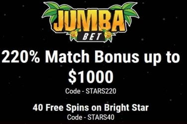 Jumba Bet Bright Star Bonus Codes