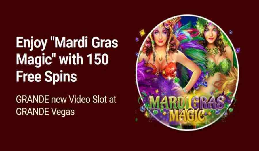 Grande Vegas Mardi Gras Magic Bonus Codes