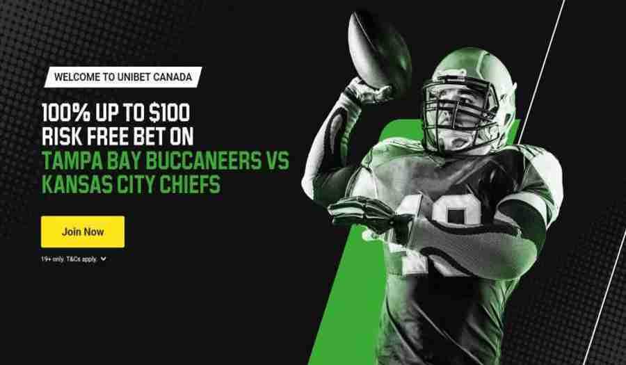 Unibet Canada Risk Free bet CHIEFS vs. BUCS