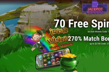 Jackpot Wheel Irish Wishes Bonus Codes
