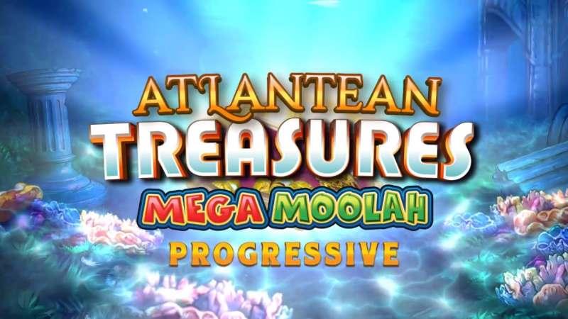 Atlantean Treasures Mega Moolah Splash Screen