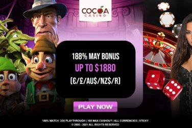 Cocoa Casino Mom's May Bonus