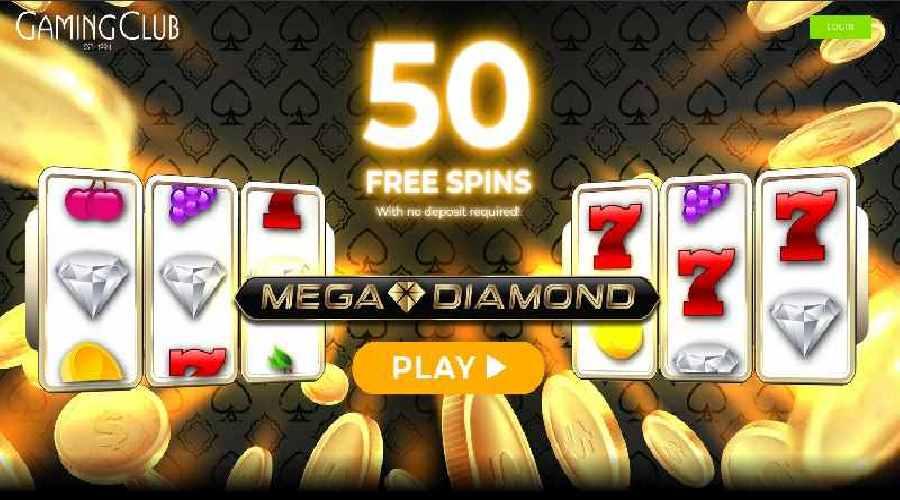gaming club casino free spins on mega diamound