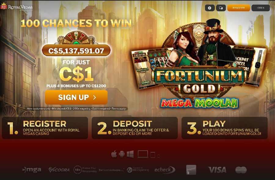 Royal Vegas Fortunium Gold Free Spins
