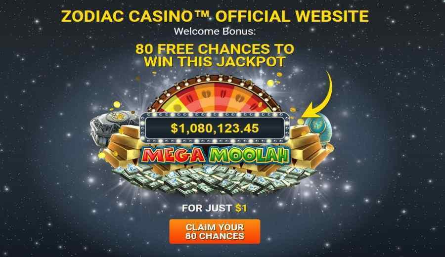 Zodiac Casino 80 peluang untuk memenangkan jackpot
